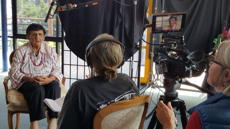 Aunty Agnes being interviewed for the Documentary